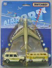 Matchbox AIRPORT Lufthansa Airlines SB-813 3 pcs.Mercedes G Class, Bus & Plane