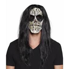 Voodoo Masque Squelette & Perruque Muertos Halloween Jour de Mort Déguisement