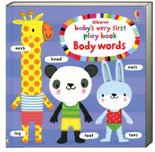 Usborne Baby's Very First Lift the Flap Play Book Body Words by Stella Baggott