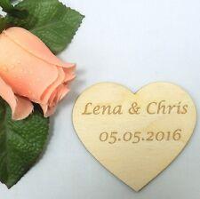 Geschenk zur Hochzeit, Herz mit Gravur, Namen vom Brautpaar, 8 cm Holzherz