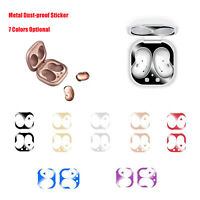 Metal Stickers Earphone Protective Cover Case Flim for Samsung Galaxy Buds Live