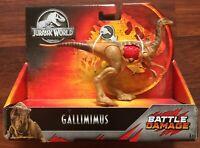 Jurassic World GALLIMIMUS Battle Damage Action Dinosaur Dino Mattel NEW