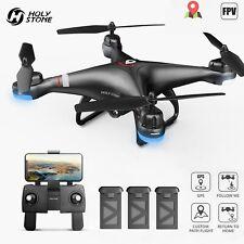 Holy Stone RC GPS Drohne mit 1080P Kamera HD FPV Quadrocopter 3  Akkus Anfänger