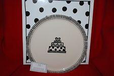 M. Bagwell Cake Wedding Platter Hand Painted & Glazed Ceramic Dessert Plate NIB