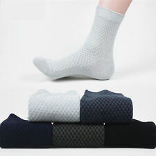 10 Pairs Men Bamboo Fible Dress Solid Casual Sports Soft Comfort Socks Size 6-10