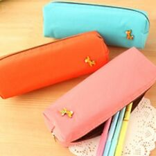 3 x Stationery cute pencil/make up leather bags creative minimalist cases gift