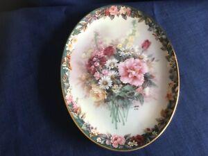 """Bradex Lena Liu's Floral Cameos """" Precious    """" oval plate"""