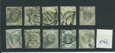 wbc. -  GB - QUEEN VICTORIA - QV543 - JUBILEE ISSUE - 1/-d - 10 copies-  USED