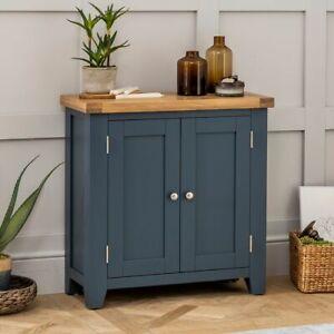 Westbury Blue Painted Small 2 Door Cupboard - BRAND NEW! - BP58