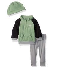 Gerber Baby Boy 3 Piece Micro Fleece Top, Pant and Cap Set, dino, 18 Months