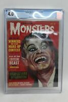 FAMOUS MONSTERS No.18 CGC 4.0 Gogos Cover 1962 OF/WT Scarce Number Vintage