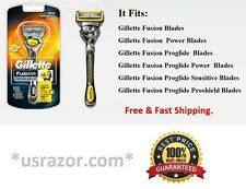 Gillette Fusion Proshield Flexball Razor handle Cartridge Flex Ball Shaver