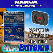 NARVA QUALITY LED AMP METER GAUGE 12/24V FOR DUAL BATTERY SYSTEMS ETC   81136BL