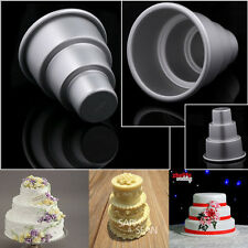 DIY Mould Craft Kitchen 3-Tier Cupcake Pudding Chocolate Cake Mold Baking Pan