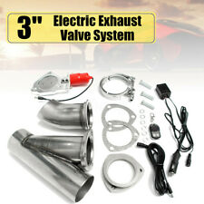 3'' 76mm Electric Exhaust E-Cut Out Valve Catback Downpipe Remote Systems Set