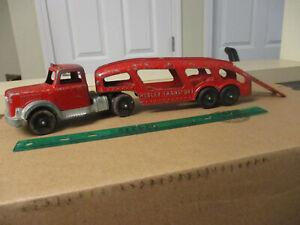 VINTAGE '50's HUBLEY KIDDIE TOY AUTO TRANSPORT DIESEL CAR CARRIER #492