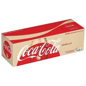 Vanilla Coke Soda 12 pack Of Cans
