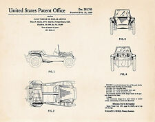 1966 Meyers Manx Dune Buggy Auto Mechanic Gift US Patent Print Bruce F. Meyers