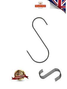 "STRONG BUTCHERS HOOKS, MEAT SMOKE HOUSE HOOK 6"" PACK OF 5 (065) UK"