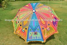 Large Garden Umbrella Elephant Sequence Indian Embroidery Party Umbrella Parasol