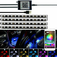 LED RGB Car Interior Atmosphere Decorative Lights Strip Bluetooth APP Control