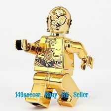 Star Wars C-3PO Gold chrome machine paint  Minifigures Custom Lego