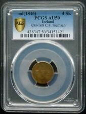 1846 Iceland/ Faroe Islands C.F Siemsen, Reykjavik token. 4 Skillings. PCGS AU50