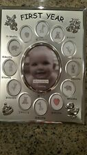 Baby's first year milestones picture frame/ baby photo frame 13 pictures