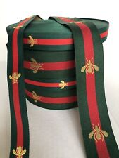 Bee Style Gucci Designer Inspired Ribbon Green /Red