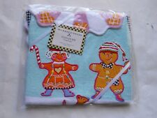 MacKenzie-Childs Toddler's Bib Terry Cloth Gingerbread Holiday