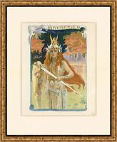 """1897 original lithograph """"Brunnhild"""" by Gaston Bussière – L'Estampe Moderne"""