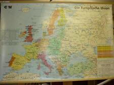 G & W MEDIEN BILDLEHRTAFEL, EUROPÄISCHE UNION, WANDKARTE, SCHULE, GEOGRAFIE, TOP