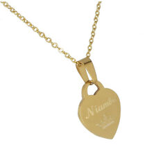 Personalized Gift Monogram Heart Name Pendant Silver Tone Necklace for her