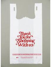 600 Italic Thank You Plastic Grocery Shopping Bag 1/6 BBL 18 mic