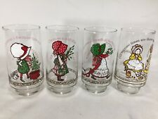 """4 Holly Hobbie - Coca Cola Limited Edition Christmas Glasses / Tumblers 6"""""""