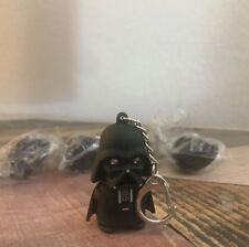 Black Star Wars Darth Vader Figurine LED Flashlight Sound Torch KeyChain Keyring