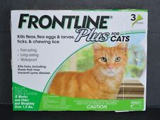 FRONTLINE PLUS FOR CATS, (3 DOSES) KILLS, FLEAS,LARVAE, TICKS, &LICE