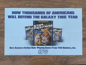 Vintage 1982 TSR Promotional STAR FRONTIERS - AD&D - Larry Elmore SIGNED / OWNED