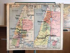 Carte Affiche scolaire Vidal Lablache n°23 Palestine / Carte de l'Orient
