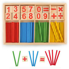 Children Wooden Numbers Mathematics Early Learning Counting Educational Toy XES0