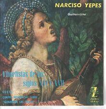 NARCISO YEPES EP Spain 1963 Vihuelistas de los Siglos XVI y XVII