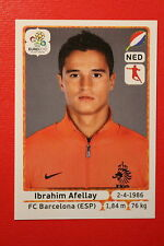Panini EURO 2012 N. 184 NEDERLAND AFELLAY  NEW With BLACK BACK TOPMINT!!