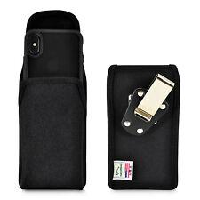 iPhone 11 Pro, XS & X Belt Holster Vertical Black Nylon Rotating Clip