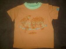 Tee shirt bébé orange 12 mois
