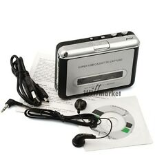 Portable Tape to PC USB Cassette-to-MP3 Converter Capture Audio Music Player