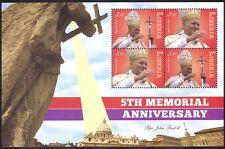 Liberia 2010 Papa Giovanni Paolo II/Religione/Persone/Chiesa/papale 4 V M/S (n40210)