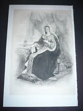 GRAVURE 1850 MADAME DE MAINTENON