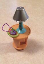 Fisher Price Loving Family Side Table w/ Lamp Living Room Furniture Den Kids