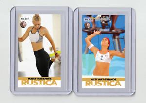 Maria Sharapova rare MH Rustica #'d 3/3 Tobacco card no. 597