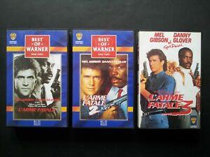 L' Arme  Fatale Lot de 3 VHS 87/89 Richard Donner Bon etat